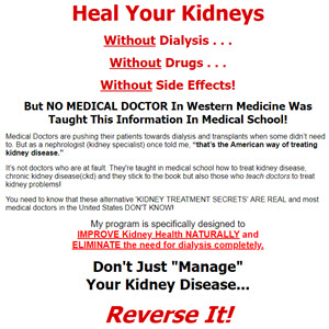 Kidney Disease Natural Treatments